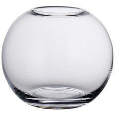 Spherical glass vase