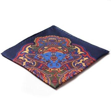 Oriental silk pocket square