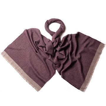 Solid wool-cashmere scarf