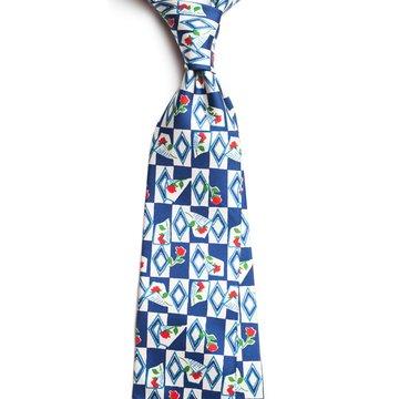 Vintage floral silk tie