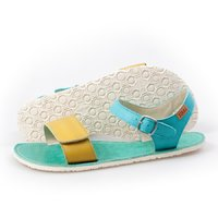 Adjustable strap sandals - Lime & Teal - in stock