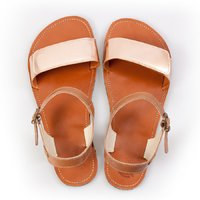Adjustable strap sandals - Nude & Brown - in stock