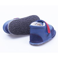 Barefoot fur boots - Red Navy