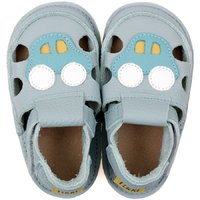 Barefoot kids sandals - Blue Car