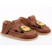 Barefoot kids sandals - Brown Lion