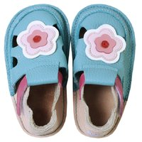 Barefoot kids sandals - Classic Cherry flowers
