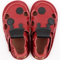 Barefoot kids sandals - Classic Red Ladybug V2