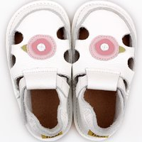 Barefoot kids sandals - Classic White Rose