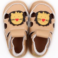 Barefoot kids sandals - Cream Lion