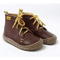 Barefoot leather boots - Beetle - Brown