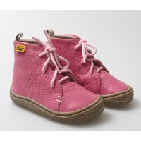 Barefoot leather boots - Beetle - Fuchsia