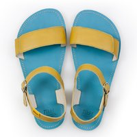 Adjustable strap sandals - Lime & Turquoise - in stock