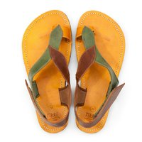 Barefoot toe loop sandals - Leaves - in stock