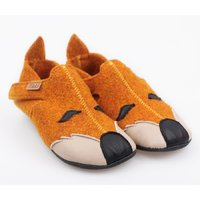 Felted wool shoes - Ziggy Fox 19-29 EU