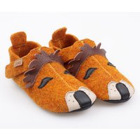 Felted wool shoes- Ziggy Lion 24-32EU