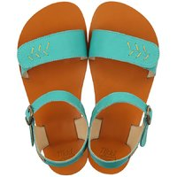 OUTLET VIBE leather - Golden Turquoise
