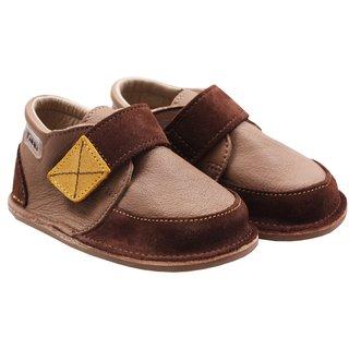Ghete piele Barefoot - Brown Delight