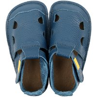 Leather barefoot sandals - NIDO Navy