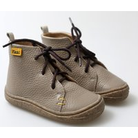 OUTLET Barefoot leather boots - Beetle - Crem