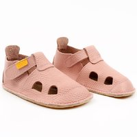 OUTLET Leather barefoot sandals - NIDO Rosa