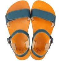 OUTLET - Sandale damă barefoot 'VIBE' - Petrol Blue