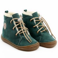 OUTLET Water-repellent wool boots - Beetle Pine 19-23 EU