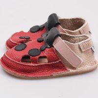 Sandale Barefoot copii - Buburuza roșie